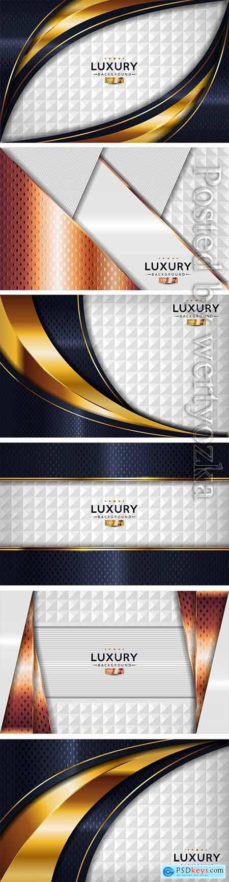 Dark navy and textured white luxury abstract vector background