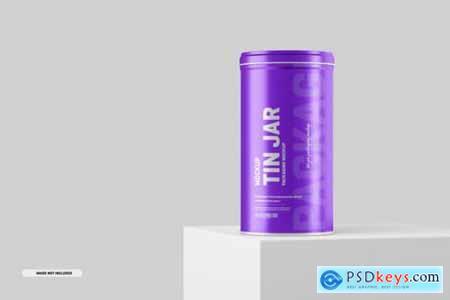 Tin Jar Packaging Mockup
