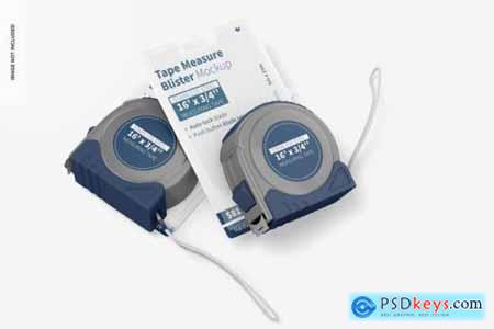 Tape measure blisters mockup