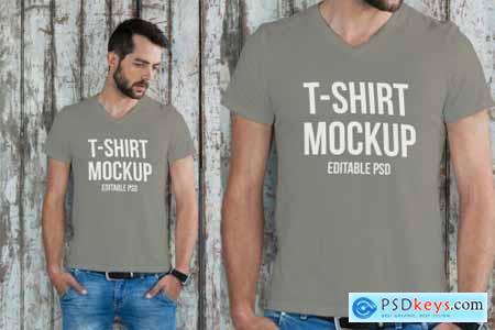 T-shirt Mockup Set PJ6J52D7
