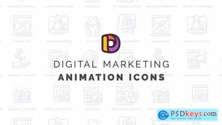 Digital marketing 2 - Animation Icons 32812236