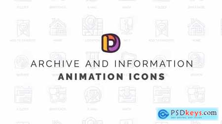 Archive and information - Animation Icons 32812099