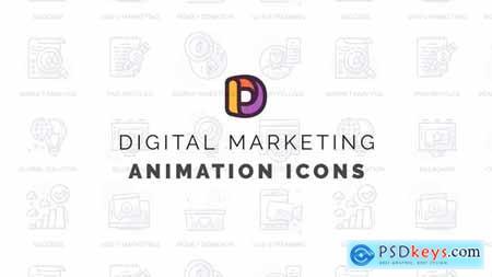 Digital marketing - Animation Icons 32812212