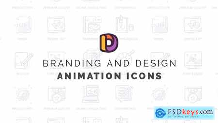 Branding and design - Animation Icons 32812114