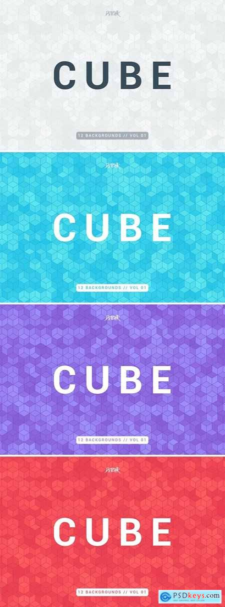 Cube - Colorful Mosaic Backgrounds - Vol.01