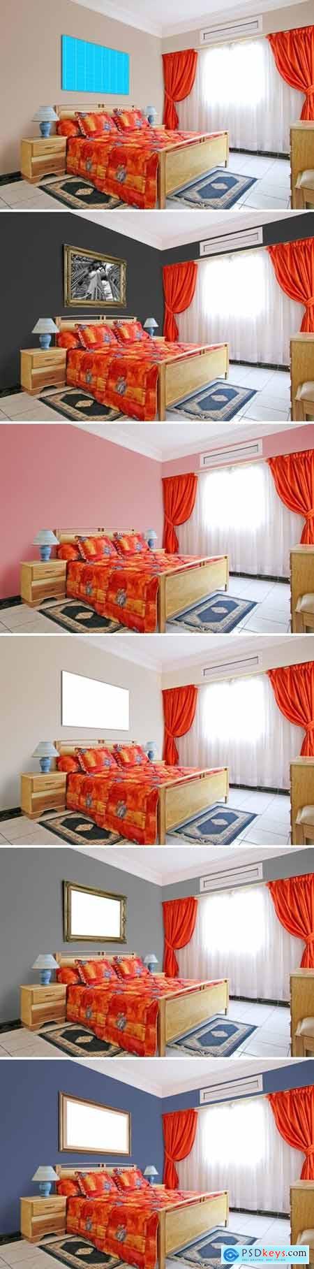 Bedroom_ 3 Frames-Mockup