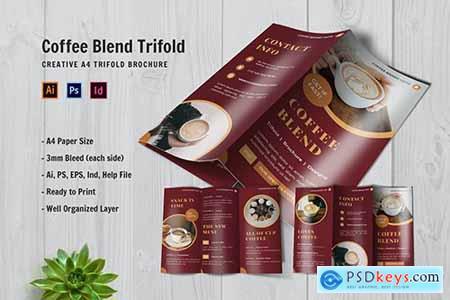 Coffee Blend Trifold Brochure 2SAXPZW