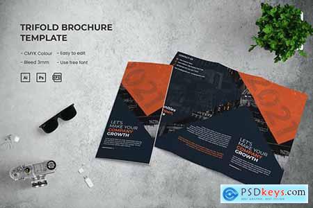Company Growth - Trifold Brochure