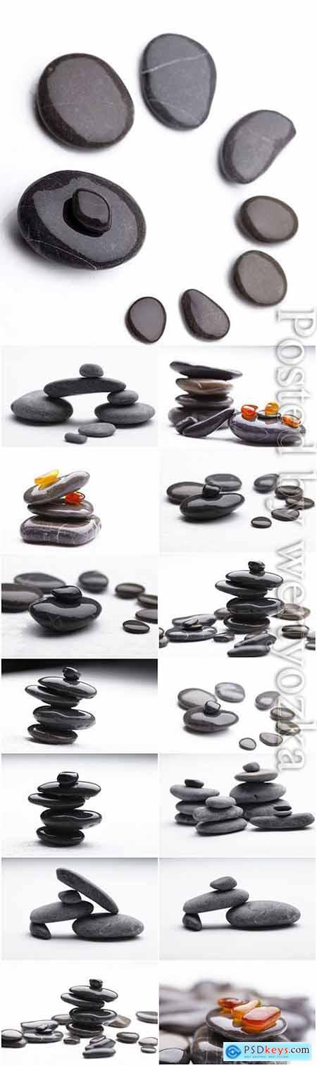 Various spa stones stock photo