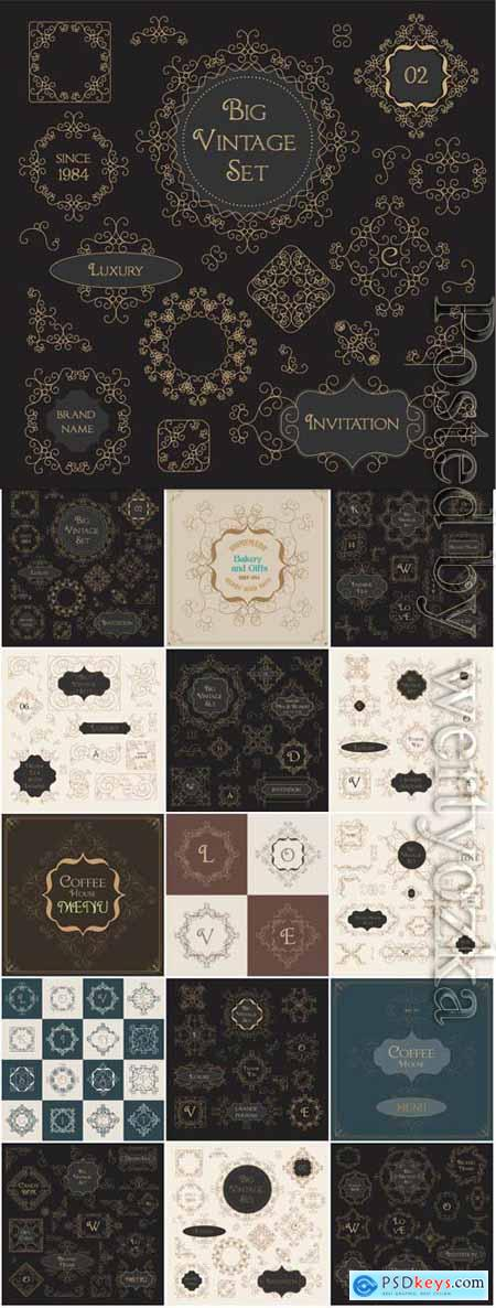 Decorative elements for design in vector