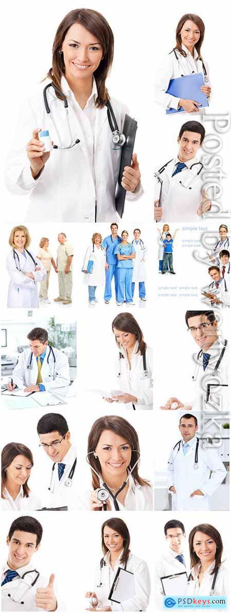 Medical men and women stock photo