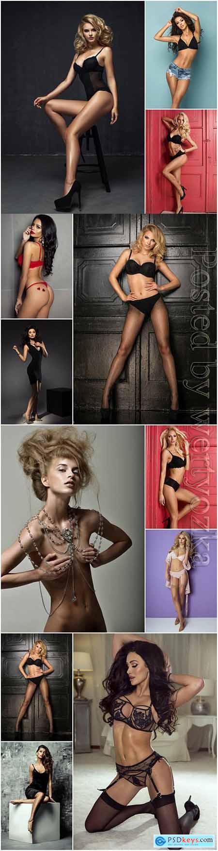 Luxury sexy women stock photo