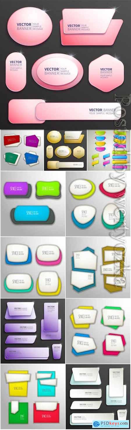 Creative banners in vector