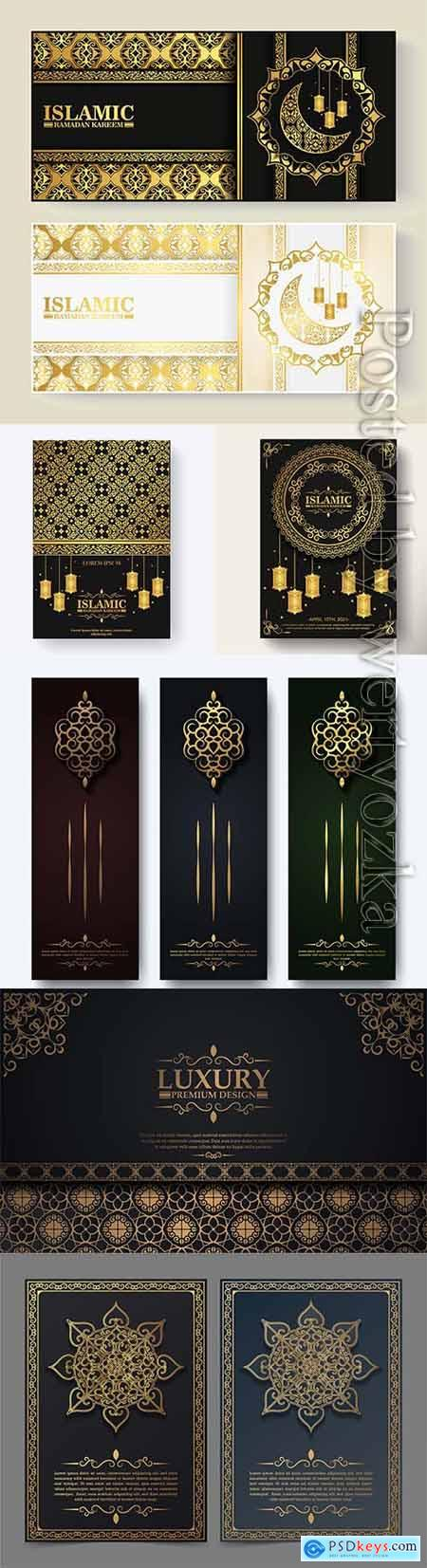 Luxury islamic ramadan kareem vector greeting card
