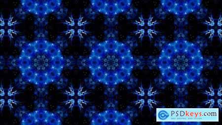 Symmetrical Glittering Blue Kaleidoscope Loop 4K 05 32936950