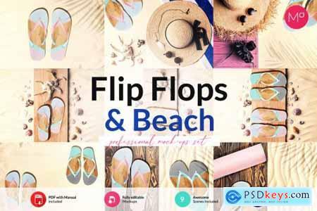 Flip Flops & Beach Mock-ups Set 6195994