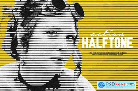 Halftone Photoshop Action 6110021
