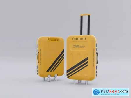 Hardside luggage mockup