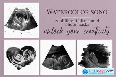 Watercolor ultrasound photomasks 5928707