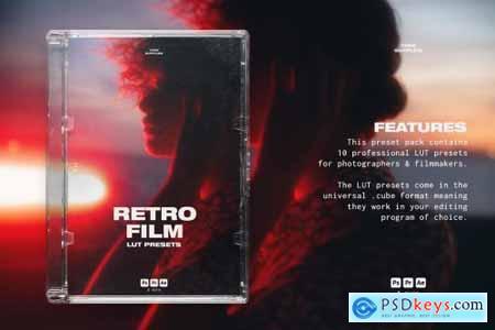 Retro Film LUT Presets Photoshop 6182608