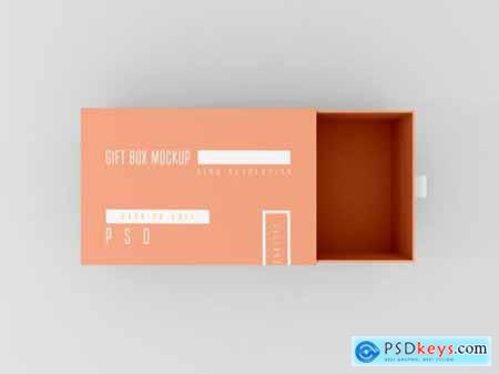 Open delivery box mockup