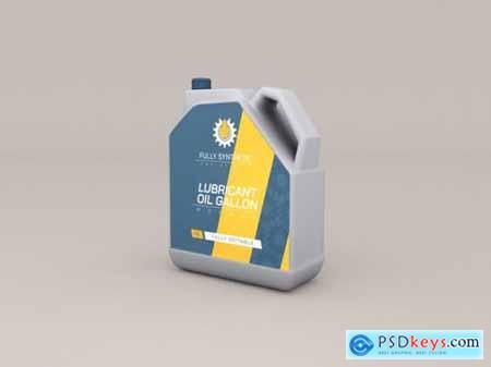 Engine oil plastic bottles mockup