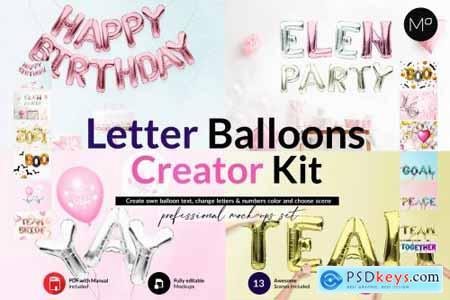 Own Letter Baloons Scene Creator 6165155