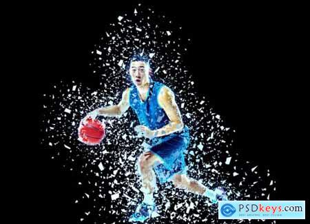 Shatter Effect Photoshop Action 5933981