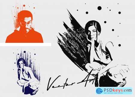 Vector Art Photoshop Action 5295274
