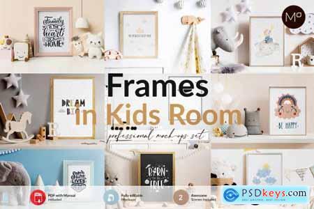 Frames in Kids Room Mock-ups Set 6219103