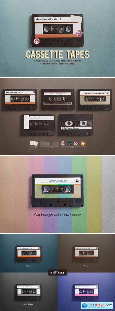 Cassette Tapes Mockup
