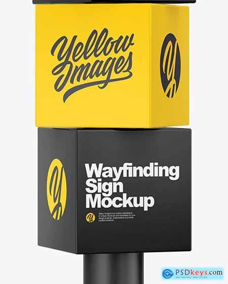 Wayfinding Sign Mockup 83426