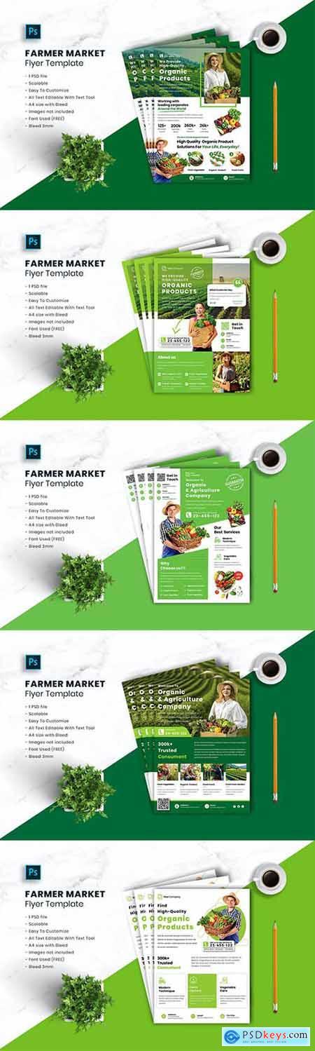 5 Farmer Market Flyer Templates
