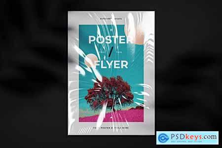 Foil Poster Flyer Mockup Template