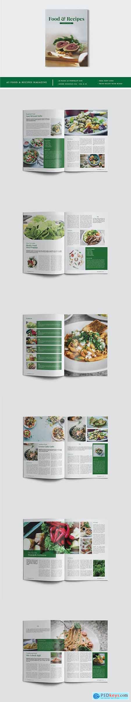 A5 Food & Recipes Magazine