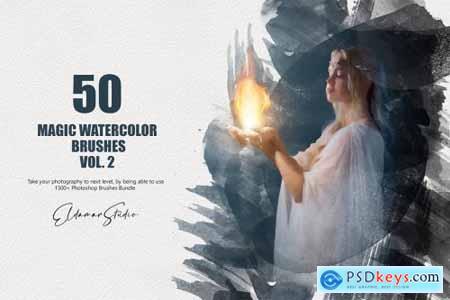 50 Magic Watercolor Brushes - Vol. 2 6258392
