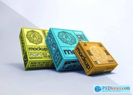 Realistic packaging box mockup