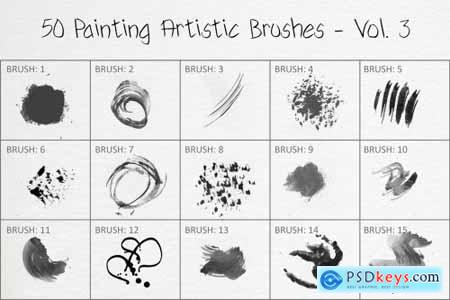 50 Painting Artistic Brushes - Vol. 3 6258424