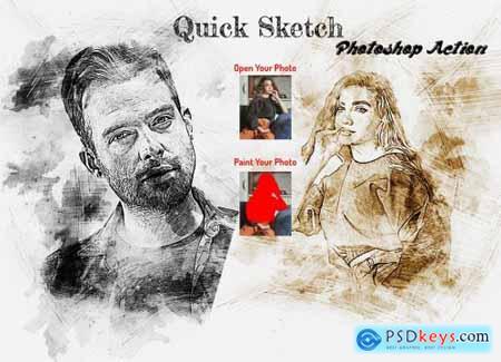 Quick Sketch Photoshop Action 6261894