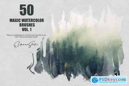 50 Magic Watercolor Brushes - Vol. 1 6258390
