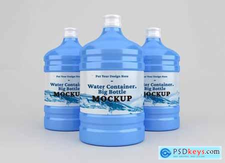 Plastic big water container mockup