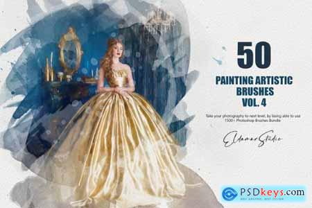 50 Painting Artistic Brushes - Vol.4 6259358