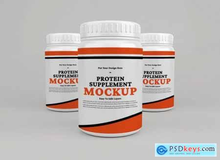 Protein supplement container mockup