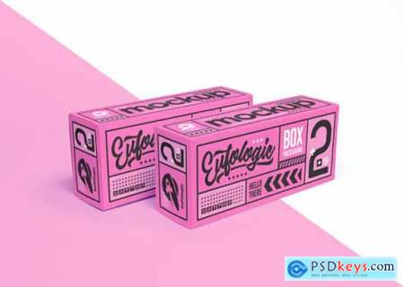 Realistic packaging pink box mockup