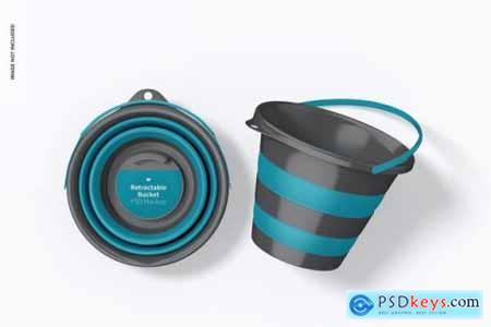 Retractable bucket mockup