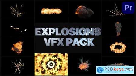 VFX Explosions Pack Premiere Pro MOGRT 32901722