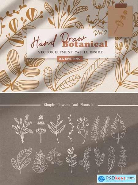 Botanical Line Art Illustration Vol.2