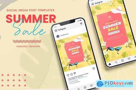 Hello Summer Sale Banner Templates