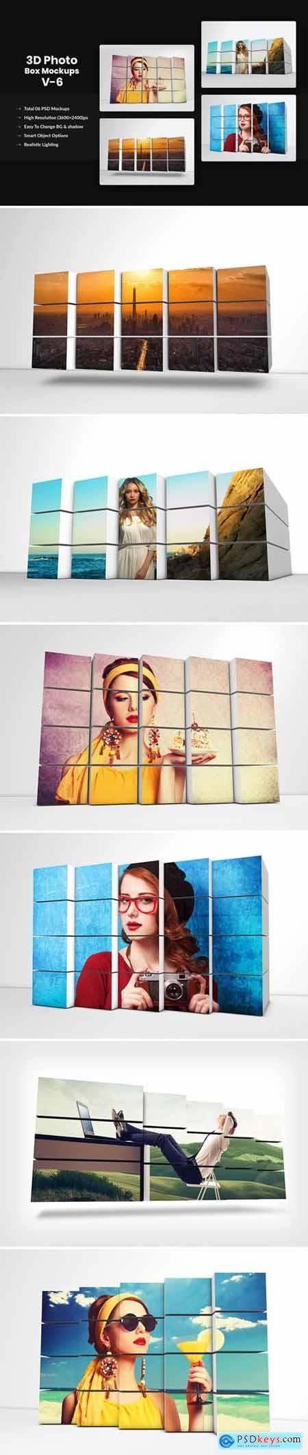 3D Photo Box Mockups Template V-6
