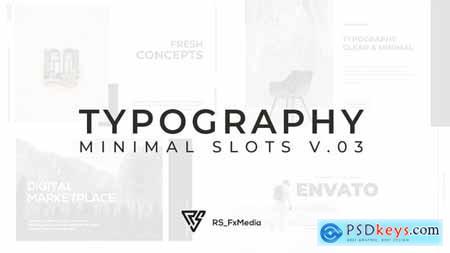 Typography Slide - Minimal Slots V.03 33036529